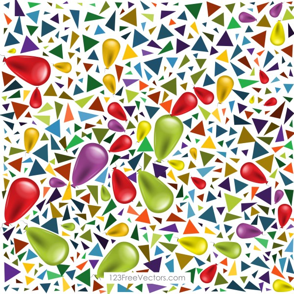 Free Birthday Balloons Background Vector