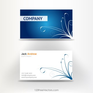 Free Visiting Card Template Vector
