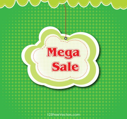 Free Mega Sale Banner Background Vector