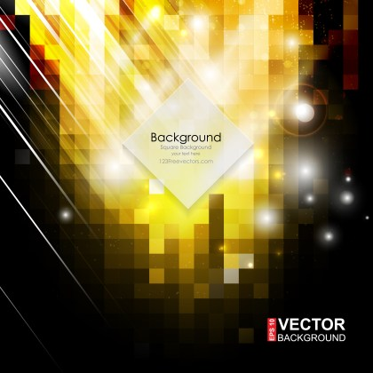 Free Black and Yellow Abstract Background Image