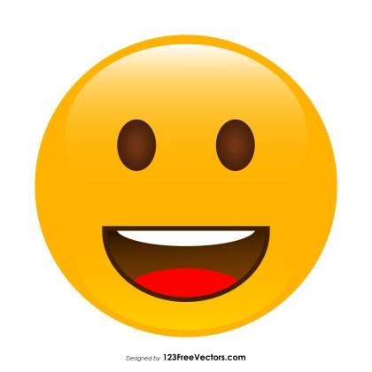 Grinning Face Emoji Vector Download