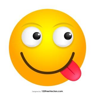 Face Savoring Food Emoji Icons Vector