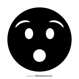 Black Hushed Face Emoji