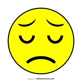 Flat Sad Face Emoji