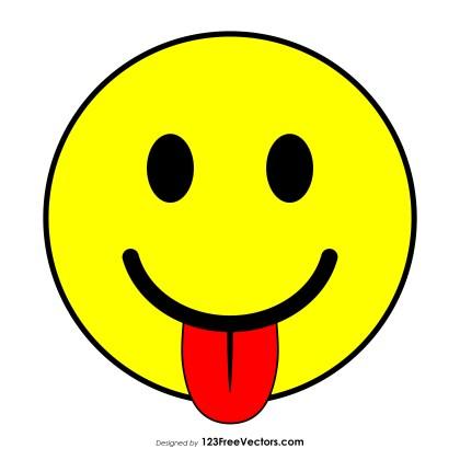 Flat Face with Tongue Emoji