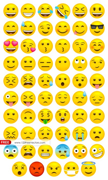 Whatsapp Emoji Vector Free Download
