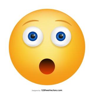 Hushed Face Emoji Vector Download
