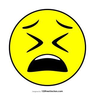 Flat Weary Face Emoji