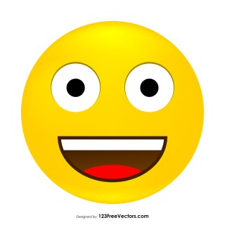 Grinning Face Emoji Icons Vector