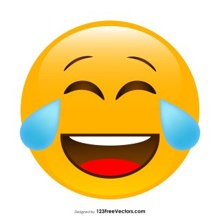 Face with Tears of Joy Emoji Icons Vector