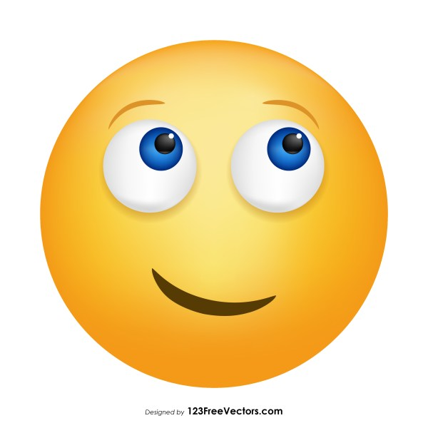 Face with Rolling Eyes Emoji Vector Download