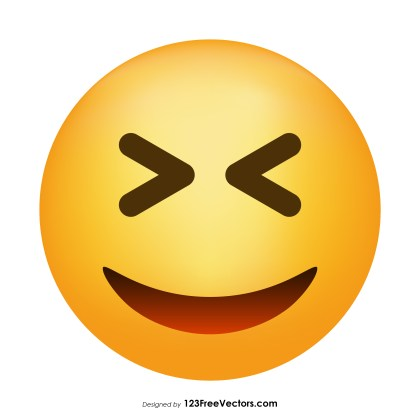 Grinning Squinting Face Emoji