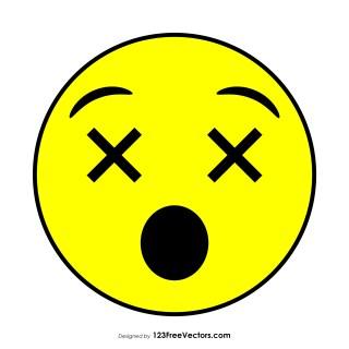 Flat Dizzy Face Emoji