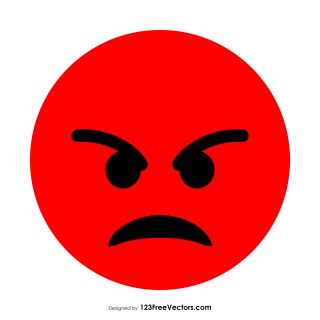 Red Angry Smiley