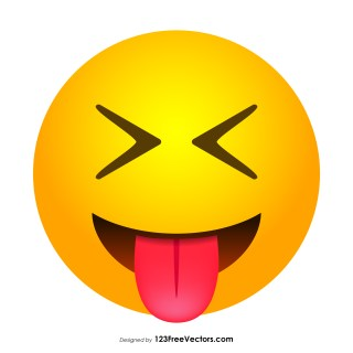 Face with Stuck-Out Tongue and Tightly-Closed Eyes Emoji Vector Free