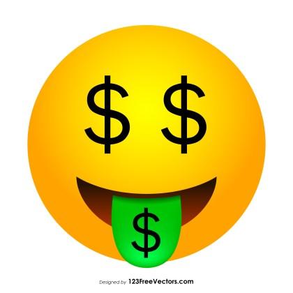 Money-Mouth Face Emoji Icons