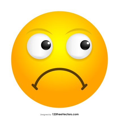 Frowning Face Emoji Vector Download