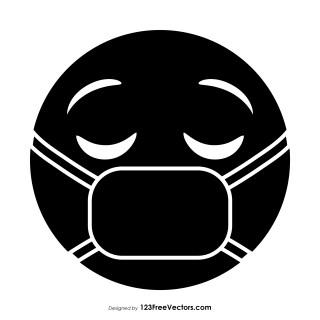 Black Face with Medical Mask Emoji