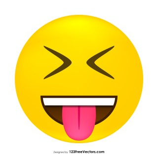 Face with Stuck-Out Tongue and Tightly-Closed Eyes Emoji Vector Download