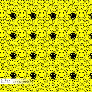 Smiley Face Seamless Pattern