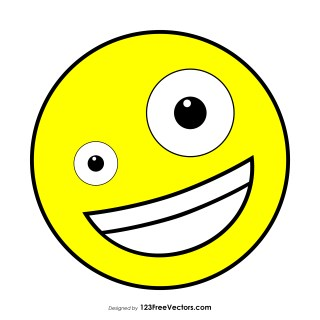 Flat Zany Face Emoji