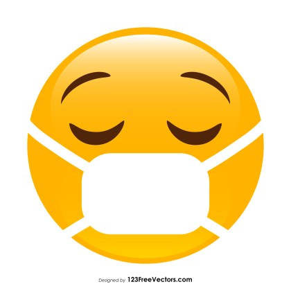 Face with Medical Mask Emoji Clipart