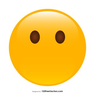 Face Without Mouth Emoji Vector Free