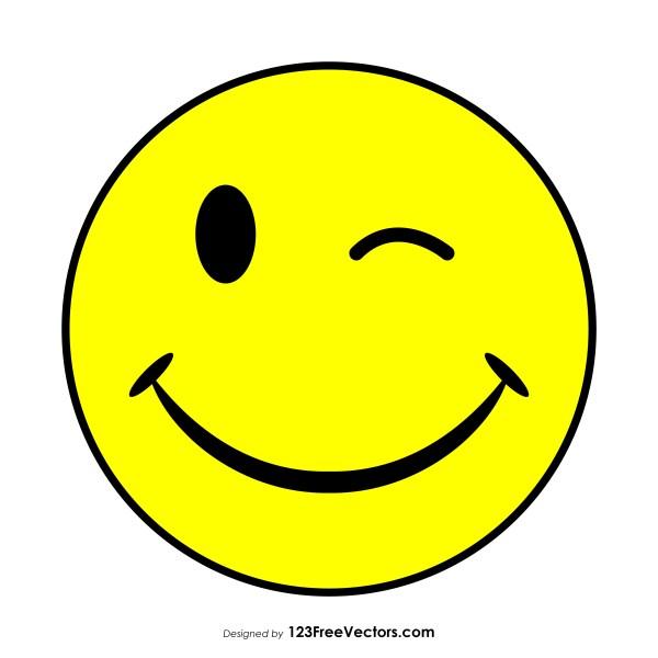 Wink Smiley Vector Free