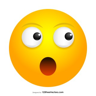 Face with Open Mouth Emoji Clipart