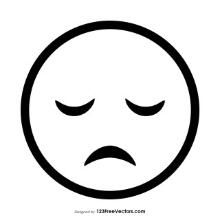 Disappointed Face Emoji Outline