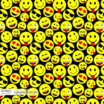 Emoji Seamless Pattern Background