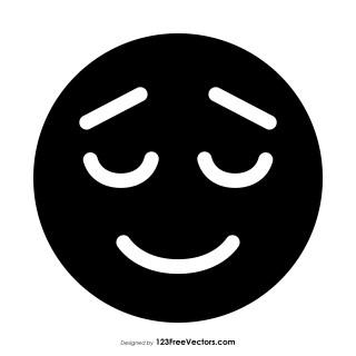 Black Relieved Face Emoji