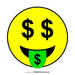 Flat Money-Mouth Face Emoji