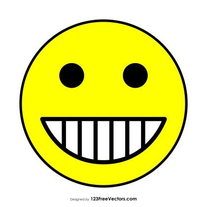 Flat Grinning Face with Smiling Eyes Emoji
