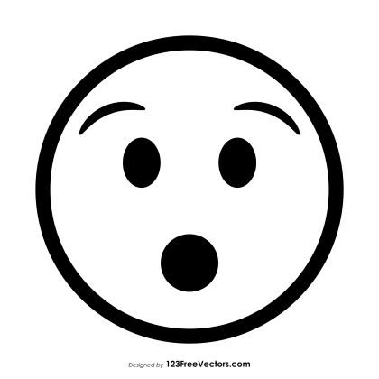Hushed Face Emoji Outline