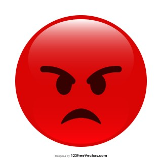 Red Angry Emoticon