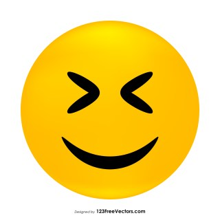 Smiling Face with Open Mouth and Closed Eyes Emoji Vector Download