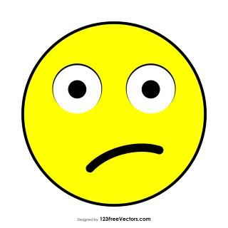 Flat Confused Face Emoji