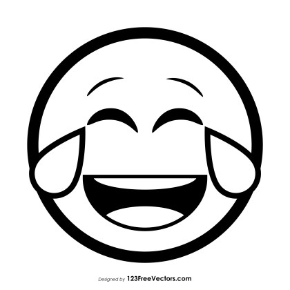 Face with Tears of Joy Emoji Vector Download