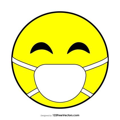 Flat Face with Medical Mask Emoji