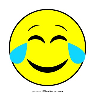 Face with Tears of Joy Emoji Vector Free