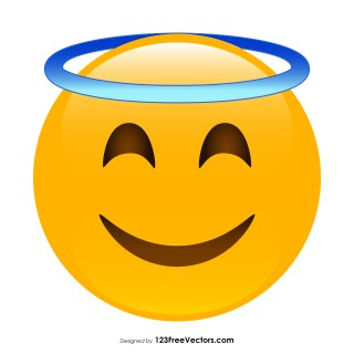 Smiling Face with Halo Emoji Vector Download