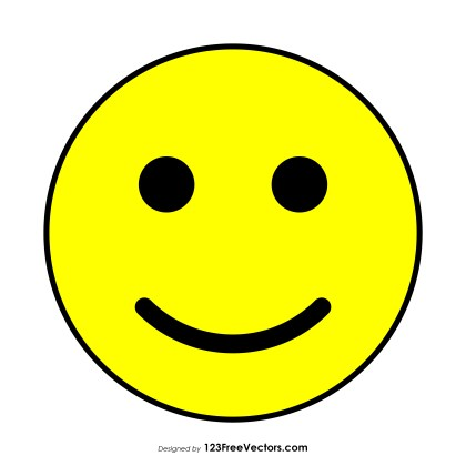Flat Happy Face Clipart