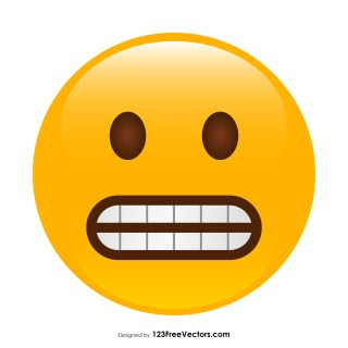 Grimacing Face Emoji Vector