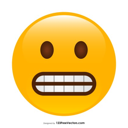 Grimacing Face Emoji Vector