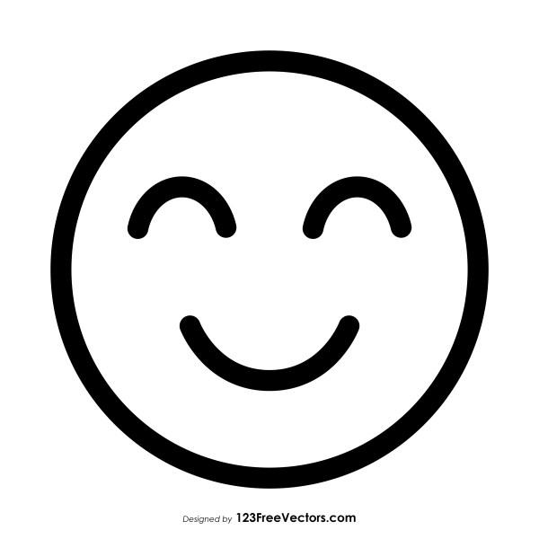 Slightly Smiling Face Emoji Outline