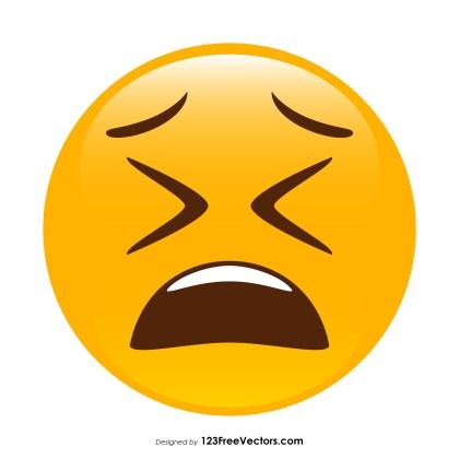 Weary Face Emoji Clipart