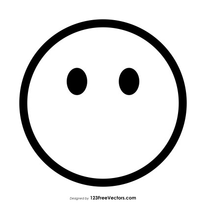 Face Without Mouth Emoji Outline