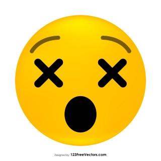 Dizzy Face Emoji Clipart