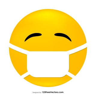 Face with Medical Mask Emoji Vector